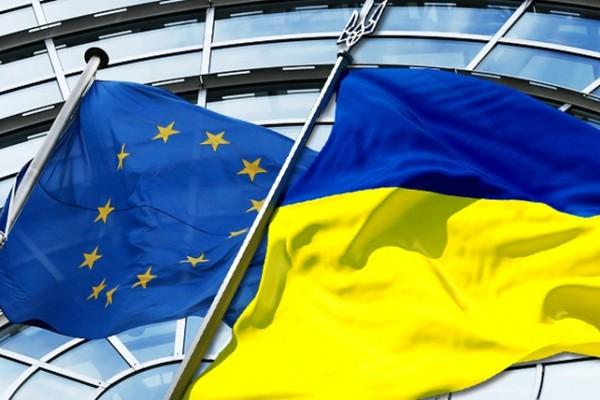 Евросоюз Украина флаги, фото с сайта zn.ru
