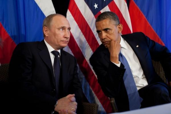 Обама и Путин, фото Белого дома