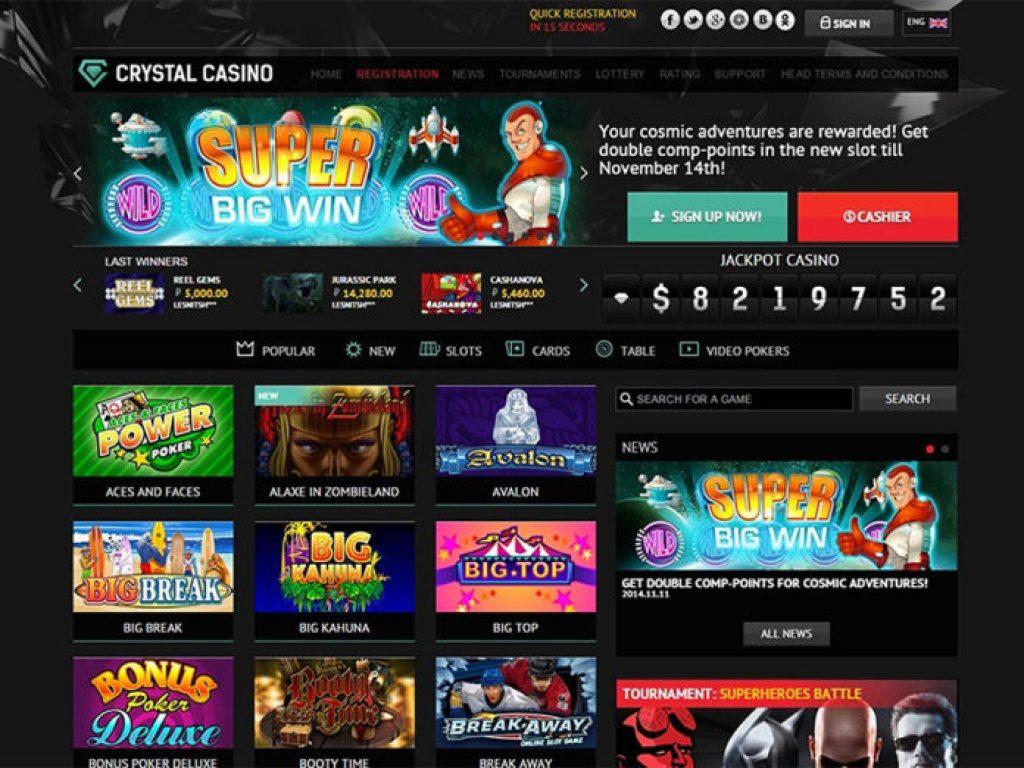 казино crystal play