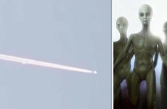 Очевидец снял на видео, как НЛО преследует реактивный самолет