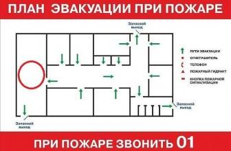 План эвакуации должен быть в любом здании