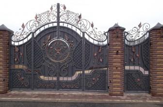 Кованые ворота — изысканная надежность