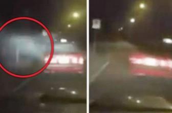 Такси попало в аварию из-за удара необъяснимых сил