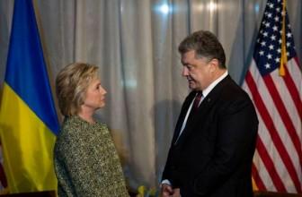 Клинтон провела переговоры с Порошенко — Побеседовали о ситуации на Украине и антироссийских санкциях